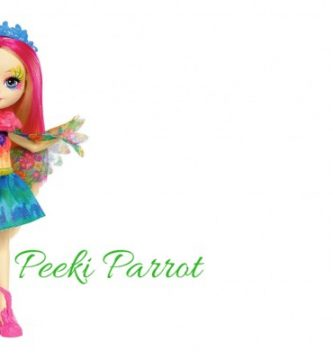 Peeki Parrot Muñeca Enchantimals