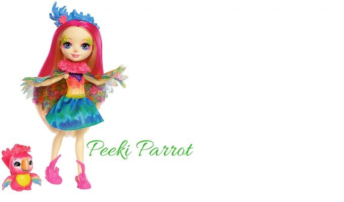 Peeki Parrot Muñeca Enchantimals