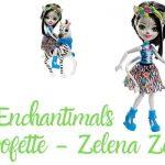 Enchantimals Cebra - Zebra Zelena - Muñeca Hoofette