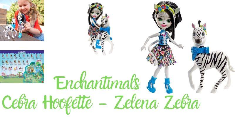 Cebra zelena zebra muñeca enchantimal hoofette